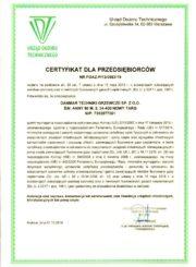 Certyfiktat F-GAZ dla DANMAR