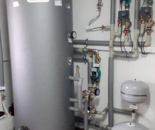 Pompa ciepła powietrze-woda–Podwilk 2019-010