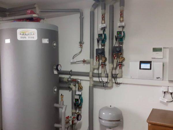 Pompa ciepła powietrze-woda–Podwilk 2019-012