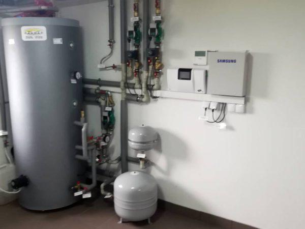 Pompa ciepła powietrze-woda–Podwilk 2019-07