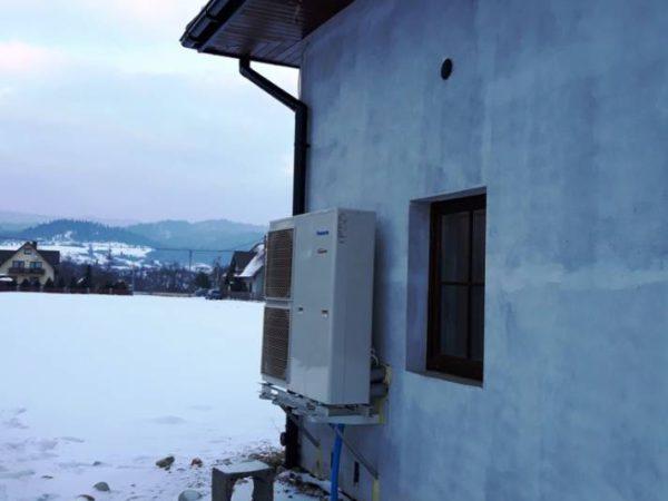 Pompa ciepła powietrze woda –Łopuszna 2018-03