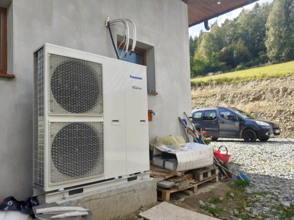 Pompa ciepła powietrze-woda – Raba Niżna 2019-02