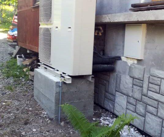 Pompa ciepła powietrze-woda –Zakopane 2019-01