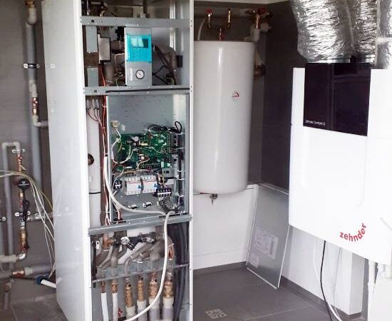 Pompa ciepła powietrze- woda Split Nowa Biała 2019-01