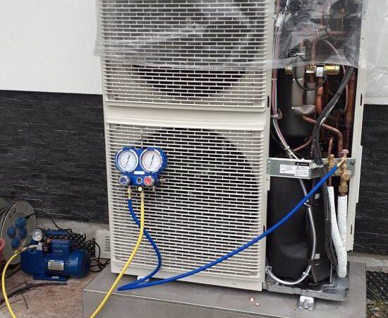 Pompa ciepła powietrze- woda Split Nowa Biała 2019-03