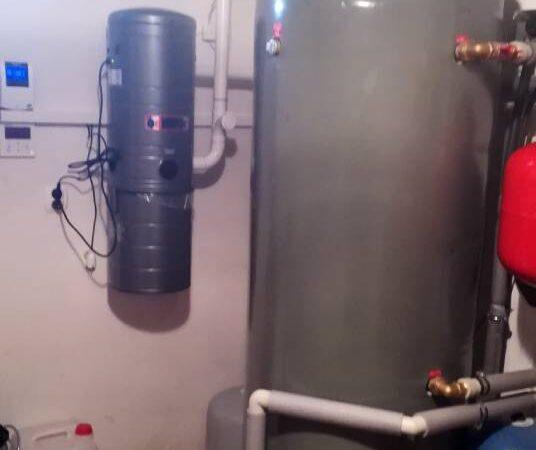 Pompa ciepła powietrze-woda w–Grywałd 2019-04